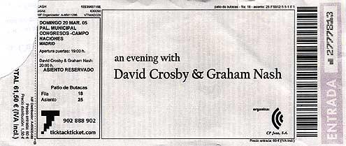 Entrada - Crosby & Nash