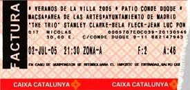 Entrada - Trio! - Veranos de la Villa - 2 Julio 2005