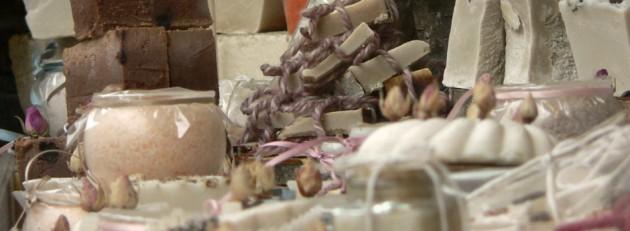 Tienda de jabones en Villanueva de Oscos. Asturias