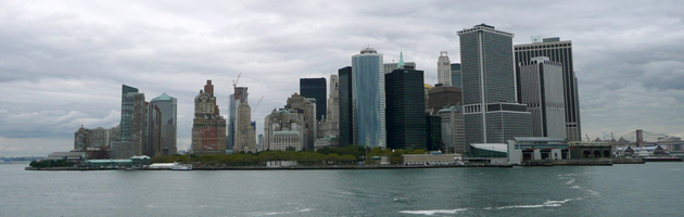 Vista de New York desde el Ferry de Staten Island