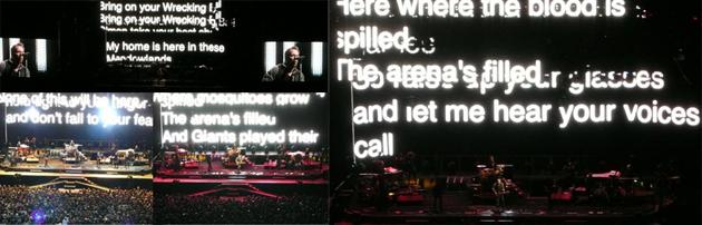 Karaoke con una nueva canción: Wrecking Ball, en honor del Giants Stadium
