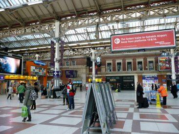 Interio de la Estación de Victoria, Londres