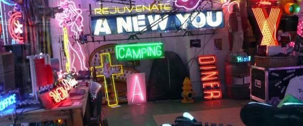 Tienda de neones en el Soho