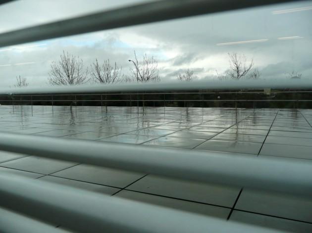 Día gris y lluvioso sobre Madrid. 30 Diciembre 2009