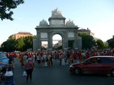 El antes en Puerta de Toledo, sobre las 20h