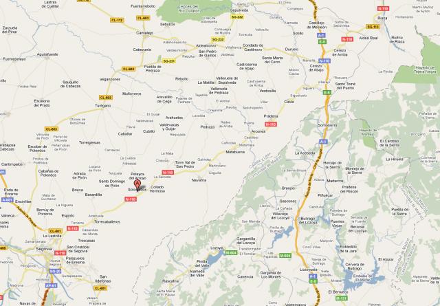 Mapa de Sotosalbos