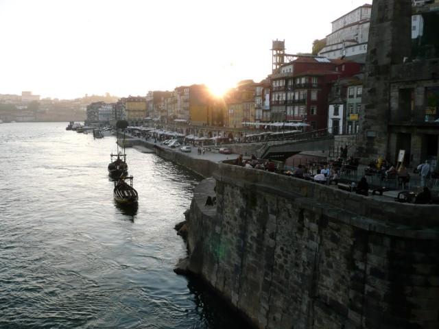 Vista de la Ribeira desde el puente Luiz I