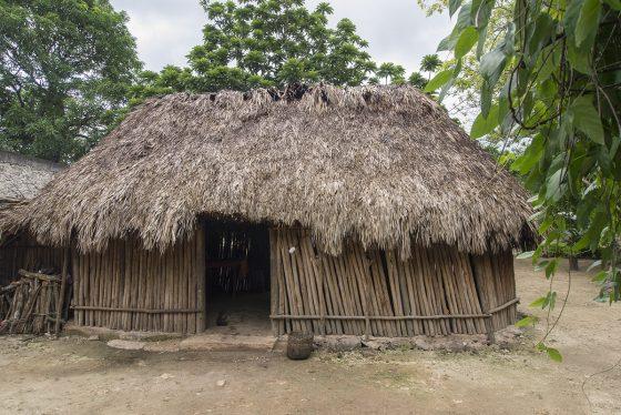 San Juan de Dios, casa al estilo ancestral maya