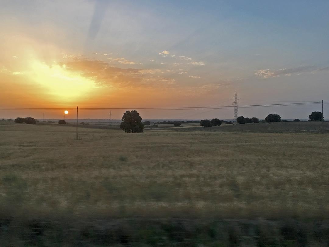 Disco de Sol en la cuenca del Guadarrama