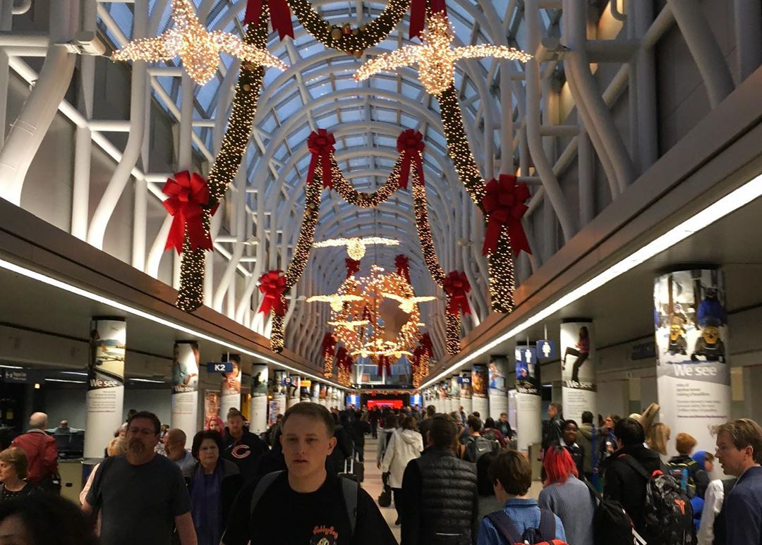 Christmas at Chicago O'Hare Airport