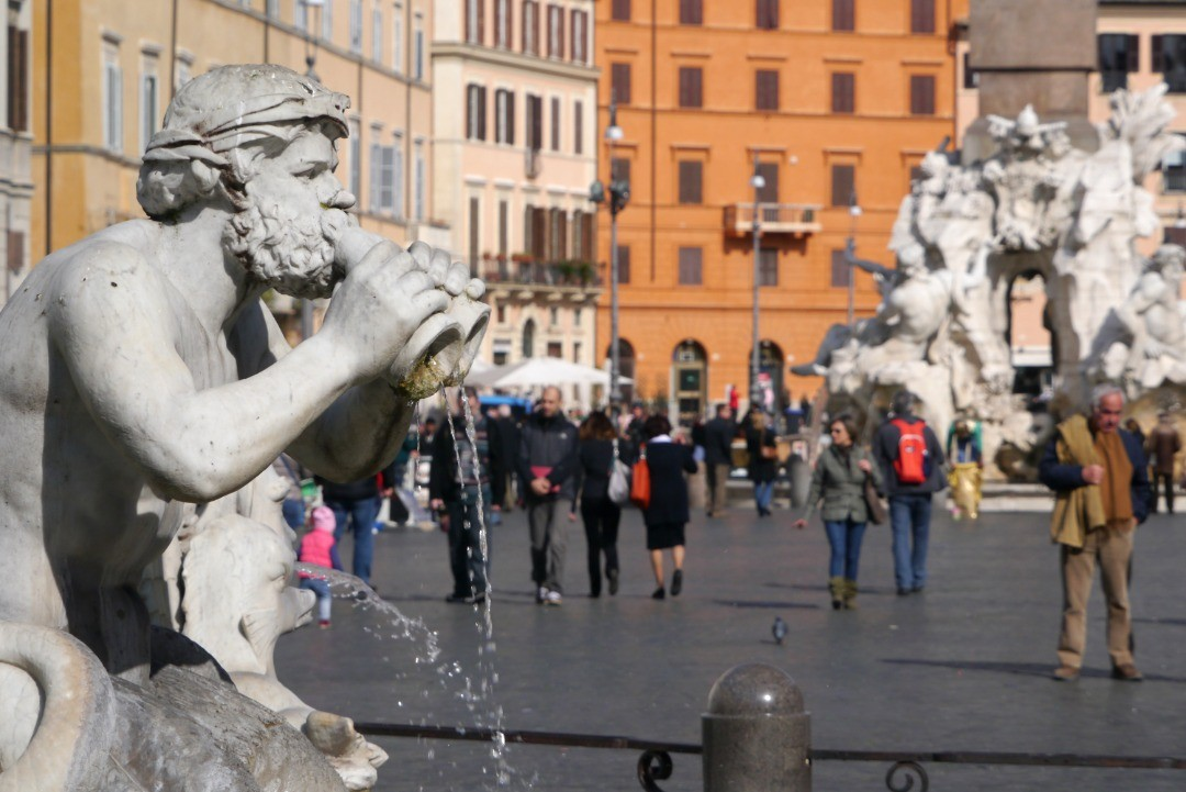 Roma en el invierno de 2014