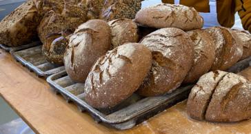 Panes de centeno y trigo